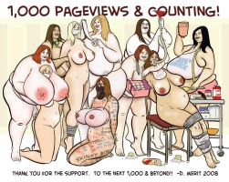 1,000 Pageviews by renderedspeechless