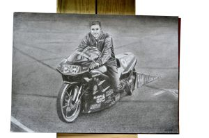 Motorcycle Drawing by keillly