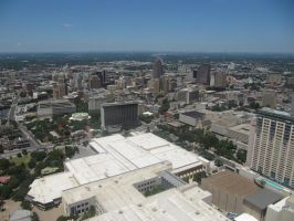 San Antonio from the Tower of the Americas 2 by kwuus
