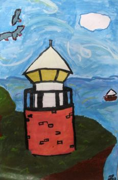 The Lighthouse - colored by cookiemonster01