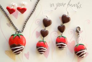 Give-away: valentines day jewelry set by PoisonedAppleAcc