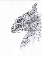 Smaug (ink) by VforVinegrette