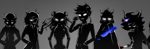 Midnight Crew Trolls by Biigurutwin