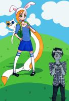 Fionna, Cake, and Marshall Lee by Angelkaat