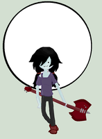 Adventure Time: Marceline - Moon (shaded) by icanhascheezeburger