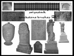 Tombstone Photoshop brushes 2 by seiyastock