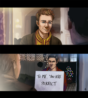 Glee FanArt: Klaine Actually by NinaKask