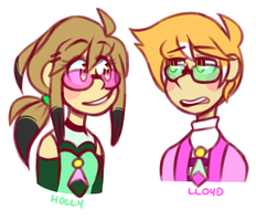 D/S: Holly and Lloyd WIP designs by AltoCaramel