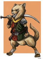 Ferret Mercenary by TheLivingShadow