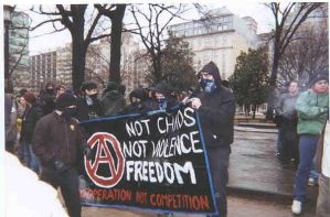 Black Bloc at Wash. DC 2001 by millerjsullivan