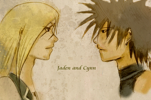 Jaden and Cynn by goldenthyme
