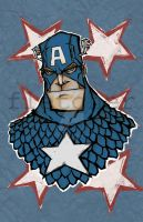 captain america by mjfletcher
