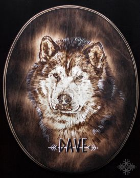 Pyrography - Dave by Marzzunny