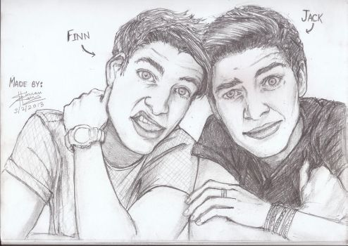 Jack and Finn by afsimart