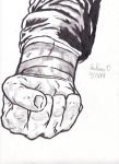 A drawn fist by chrispwnz95