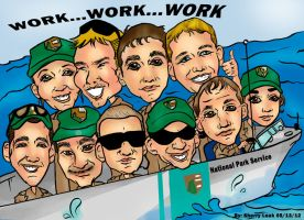 National Park Services Caricature 051612 by raccoon-eyes
