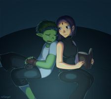 Teen Titans - Midnight Moment by rufiangel