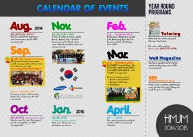 Calendar of Events HMJM UPH 2014/2015 by Michalv