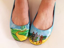 Wizard of Oz hand painted shoes - ballerina pumps by arteclair