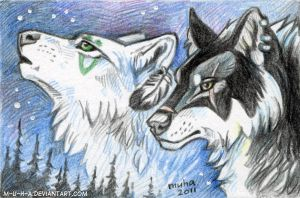 ACEO Spirits of North by m-u-h-a