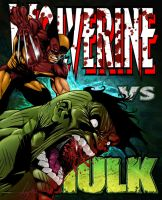 Wolverine vs Hulk by Danlop77