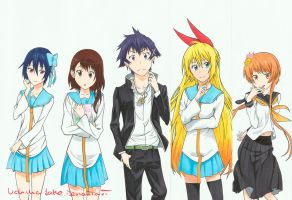Nisekoi copic marker fanart by uchihajake