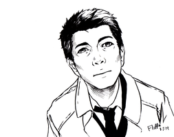 comic book style Cas by fliff