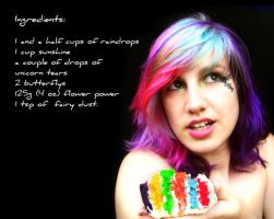 Rainbow Cake Recipe by littlehippy