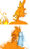 flame princess and finn by onthefritz