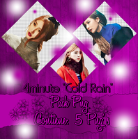 4minute-Cold Rain-Pack PNG by Kaawaiiilovesone