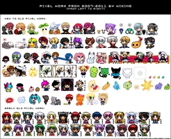 pixel work from 2007-2011 by WikiME