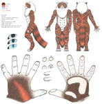 Tyger Anthro Reference by Slipping-Star