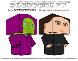 Cubeecraft - Madame Vastra and Jenny Flint by CyberDrone