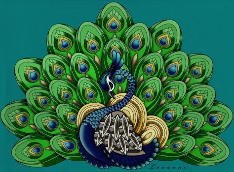 A Peacock by Louloucatmom