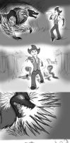 Don't Starve crossover comic:His world meets mine2 by DreamWithinTheHeart