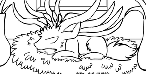 (PREVIEW) Xerneas's sulking face: INKED by SoftMonKeychains