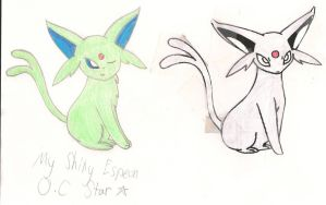 My First Espeon Sketch (colored) by WispTheKitty
