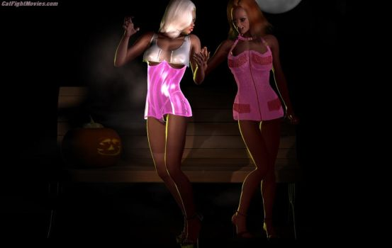 CatFight  Hookers' Park 01 by westcat