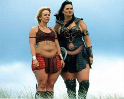 Fat Xena and Pearshaped Gabrielle by cahabent