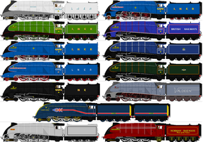 LNER A4 Sprites by omega-steam