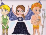 Katniss, Finnick and Peeta by VIVA-LA-ELENA