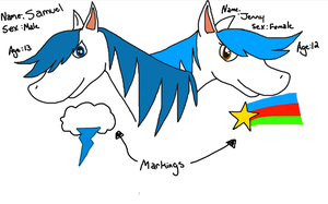 Horse preview: Samuel and Jenny by JennytheYugioh5dsfan