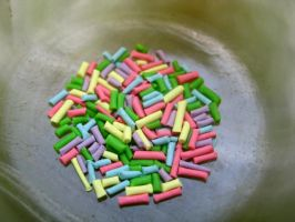Mini Clay Sprinkles by eatyourbrians