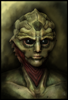 Thane Krios: Drell Warrior by chermilla