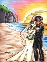 Wedding at the Beach by ManueC