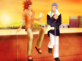 Axel and Saix by SorasPrincesss