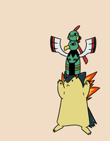 Totem Pole - Na Xa Ty by DrawFag159381