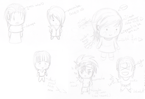 Chibiness xDxD Doodles again by ShinigamiDanna
