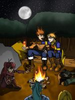 Golden Sun Camping by reihnkeirr
