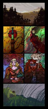 Color Sketches by Nafah